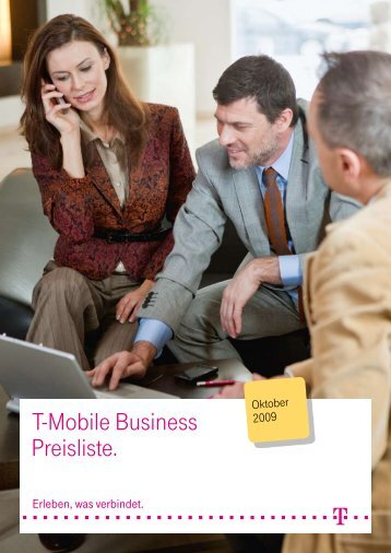 T-Mobile Business Preisliste.