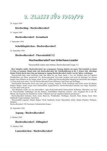 saison 1969/70_2. Klasse Süd - SC HOWODO