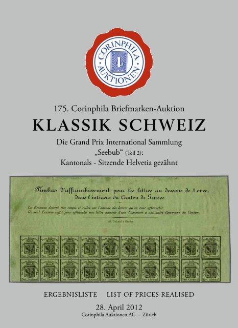 KLASSIK SCHWEIZ - Corinphila Auktionen AG