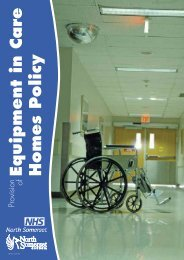 Equipment in care homes policy Mar10 pd.pdf - NHS North Somerset