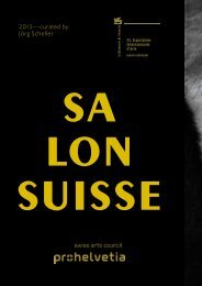 Programme Salon Suisse 2013 - biennials.ch