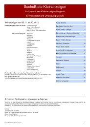 SucheBiete Kleinanzeigen-Magazin Plankstadt - Kostenlose ...