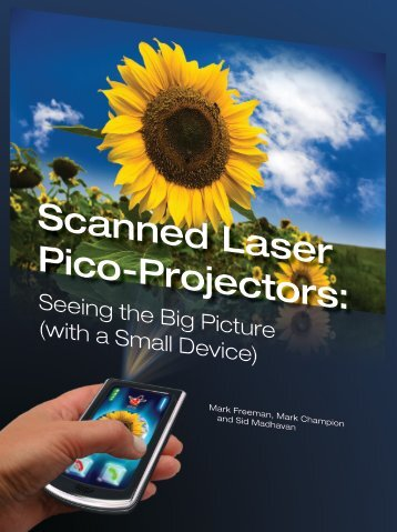 """""""Scanned Laser Pico-Projectors"""" from Optics - Microvision.com"""