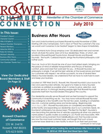 Business After Hours - Roswell, New Mexico, Chamber of Commerce