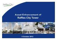 Asset Enhancement of Raffles City Tower - CapitaCommercial Trust
