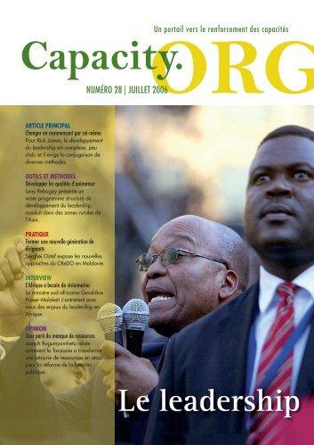 Télécharger la revue en pdf - Capacity.org