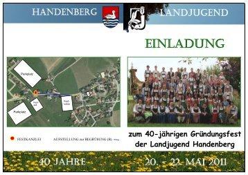 zum 40-jährigen Gründungsfest der Landjugend Handenberg