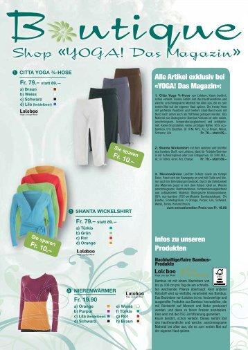 Shopausgabe aus Heft Nr. 3 / 2011 - YOGA! Das Magazin