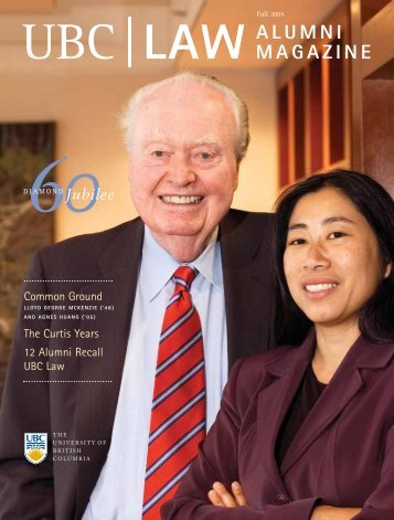 UBC LAW ALUMNI MAGAZINE - University of British Columbia ...