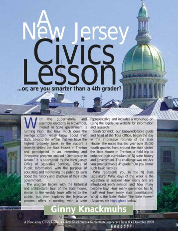 A New Jersey Civics Lesson - Garden State Legacy