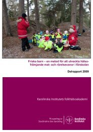 Friska barn- Delrapport.pdf - Folkhälsoguiden