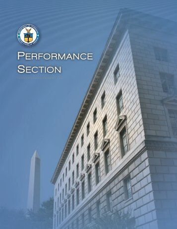 FY 2010 Performance Section - Department of Commerce