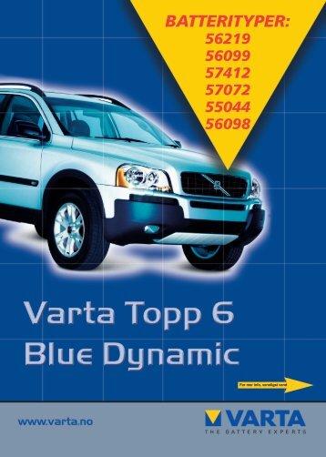 BATTERITYPER: - VARTA Automotive PartnerNet