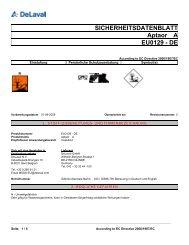 SICHERHEITSDATENBLATT Aptaor A EU0129 - DE - DeLaval