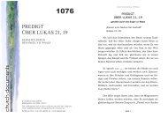 PREDIGT ÜBER LUKAS 21, 19 church documents - Apostolische ...