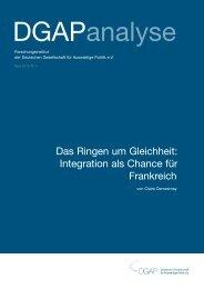 Das Ringen um Gleichheit - Dialogue d'avenir franco-allemand