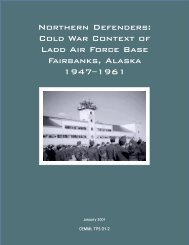Northern Defenders: Cold War Context of Ladd Air Force Base ...
