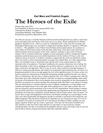 Heroes of the Exile - Marxists Internet Archive