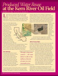 Produced Water Reuse at the Kern River Oil Field - Southwest ...