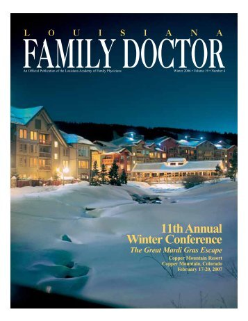 11th Annual Winter Conference - Louisiana Academy of Family ...
