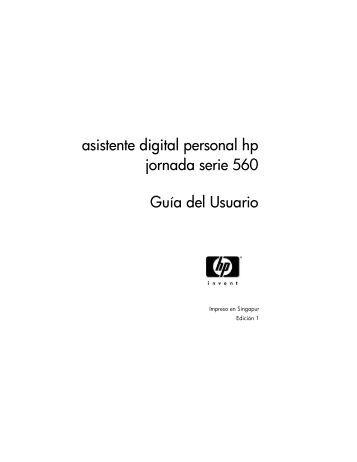 Asistente digital personal HP Jornada serie 560 - Hewlett Packard
