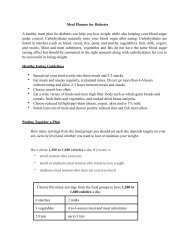 Meal Planner for Diabetes A healthy meal plan for diabetes can help ...