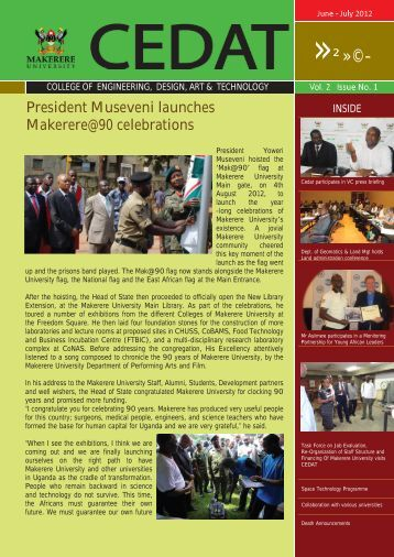 June-July 2012 Newsletter - College of Engineering, Design, Art and ...