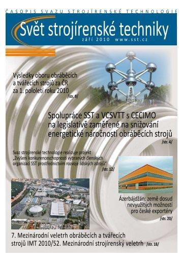 Svět strojírenské techniky číslo 2/2010 (PDF, 4.78 MB) - Svaz ...