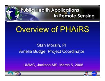 Overview of PHAiRS