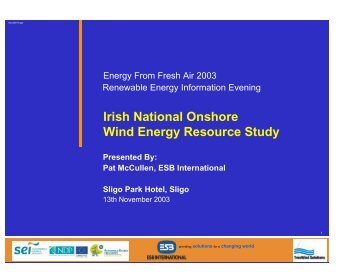 Pat McCullen - the Sustainable Energy Authority of Ireland