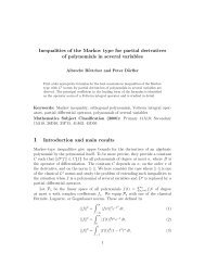 Inequalities of the Markov type for partial derivatives of polynomials in