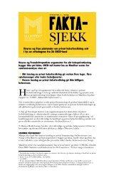 Høyres og Frps påstander om privat ... - Manifest Analyse