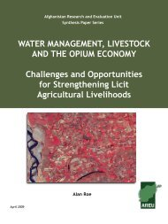 WAtER MAnAgEMEnt, LivEStock And thE oPiUM EconoMy ...