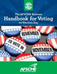 Retirees Handbook for Voting on Election Day - AFSCME