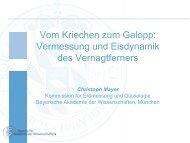Vom Kriechen zum Gallop: Vermessung und Eisdynamik