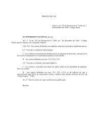 PROJETO DE LEI Altera o art. 225 do Decreto-lei n 2.848, de 7 de ...