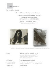 JULY 21 – AUGUST 25, 2012 FRIDAY, JULY 20, 2012, 6 – 9 pm