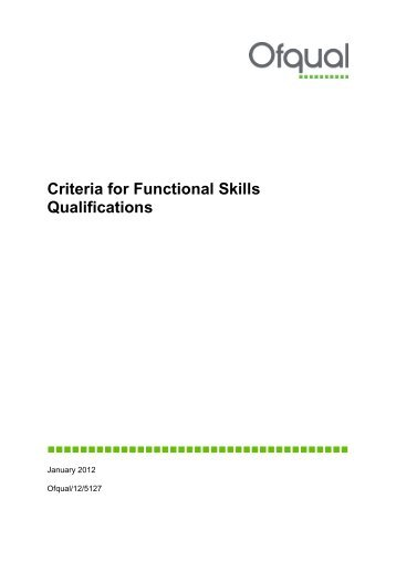 skills and qualifications