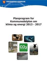 Planprogram for Kommunedelplan om klima og energi 2013 - 2017