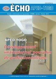 Bulletin APED - APED-TOGO