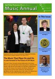 Music Annual - Cal Poly Pomona