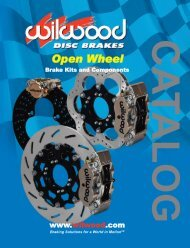 Open Wheel Catalog - Wilwood Engineering
