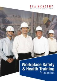 Workplace Safety & Health Training - BCA Academy