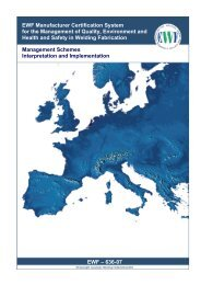 EWF Manufacturer Certification System for the Management