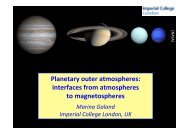 Planetary outer atmospheres: interfaces from atmospheres to ...