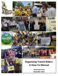 Organizing Transit Riders: A How-To Manual - Good Jobs First