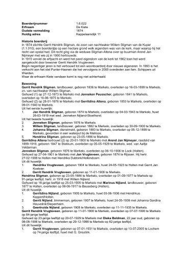 1.6.022 Boerderij De Kiete, Kappelaarsdijk 11 - De Hofmarken