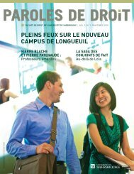 Printemps 2010 - Université de Sherbrooke