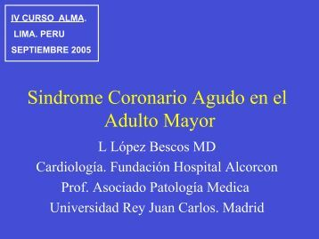 Sindrome Coronario Agudo en el Adulto Mayor