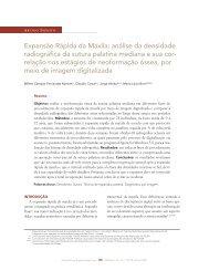 Expansão Rápida da Maxila: análise da densidade ... - Dental Press